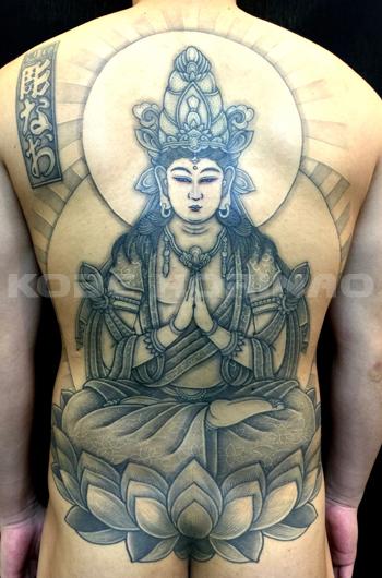 勢至菩薩の刺青の画像