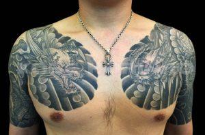 阿吽の龍の刺青、和彫り(Japanese Tattoo)画像