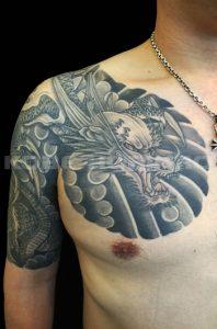 阿形の龍の刺青、和彫り(Japanese Tattoo)画像