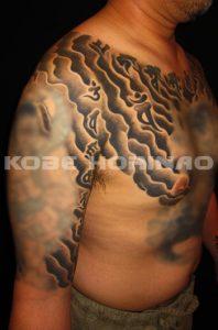 ドンブリの刺青、和彫り(Japanese Tattoo)画像