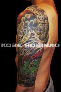 蛇と蔦の刺青、和彫り(Japanese Tattoo)画像