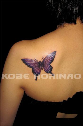 バタフライのタトゥーの画像