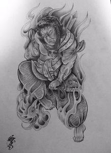 不動明王の下絵画像