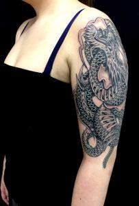 昇龍の刺青、和彫り(Japanese Tattoo)画像