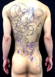 第六天魔王波旬の刺青、和彫り(Japanese Tattoo)画像