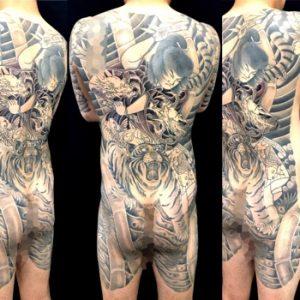 虎王丸の刺青、和彫り(Japanese Tattoo)画像