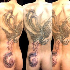 鳳凰の刺青、和彫り(Japanese Tattoo)の画像