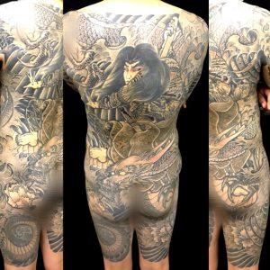 九紋龍史進と龍の刺青、和彫り(Japanese Tattoo)画像