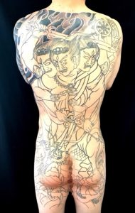 金剛夜叉明王の刺青、和彫り(Japanese Tattoo)画像