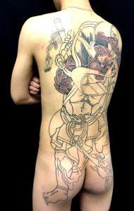 第六天魔王 天魔波旬の刺青、和彫り(Japanese Tattoo)画像