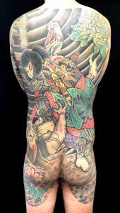 九紋龍史進の鬼退治の刺青、和彫り(Japanese Tattoo)画像