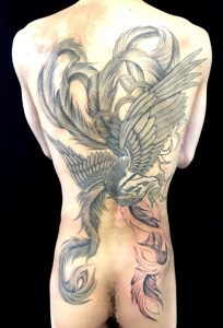 鳳凰の刺青、和彫り(Japanese Tattoo)画像