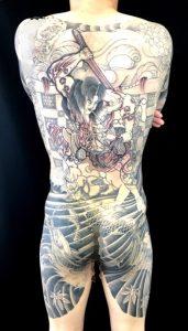 張順水門破りの刺青、和彫り(Japanese Tattoo)画像