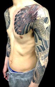 阿形の龍 (控えハ分袖)の刺青、和彫り(Japanese Tattoo)画像