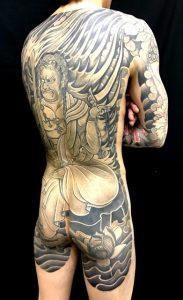 不動明王の刺青、和彫り(Japanese Tattoo)画像