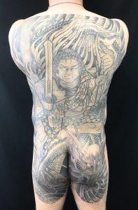 不動龍の刺青、和彫り(Japanese Tattoo)の画像