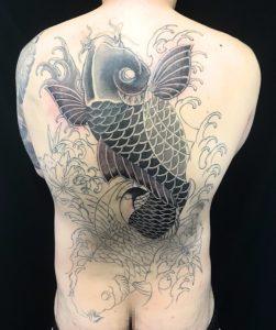 夫婦鯉 ※リメイク&カバーアップのTattoo(タトゥー)、洋彫り画像