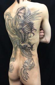 鳳凰の刺青、和彫り(Japanese Tattoo)の画像です。