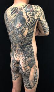 虎王丸の刺青、和彫り(Japanese Tattoo)の画像です。