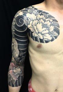 唐獅子牡丹の刺青、和彫り(Japanese Tattoo)の画像です。