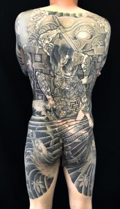 張順水門破りと龍の刺青、和彫り(Japanese Tattoo)の画像です。