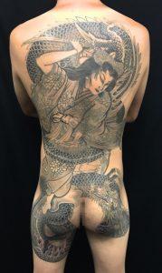 橘姫と龍の刺青、和彫り(Japanese Tattoo)の画像です。
