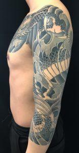 吽形の龍の刺青、和彫り(Japanese Tattoo)の画像です。
