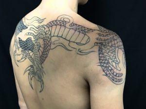 龍の刺青、和彫り(Japanese Tattoo)の画像です。