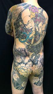 花和尚魯智深と牡丹の刺青、和彫り(Japanese Tattoo)の画像です。
