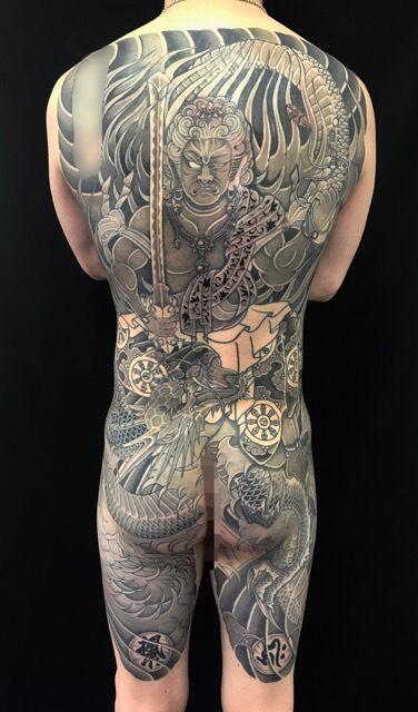 不動龍の刺青、和彫り(Japanese Tattoo)の画像です。