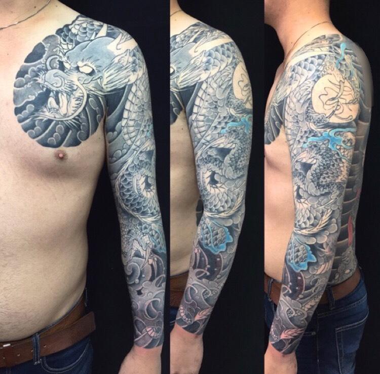 龍・リメイクの刺青、和彫り(Japanese Tattoo)の画像です。