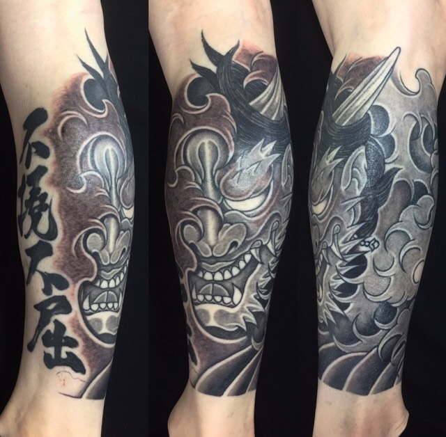 羅生門・漢字の刺青、和彫り(Japanese Tattoo)の画像です。