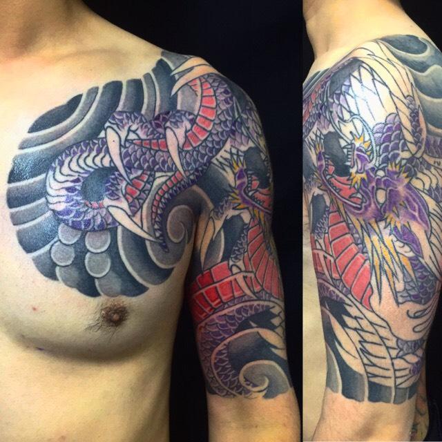 応龍の刺青、和彫り(Japanese Tattoo)の画像です。
