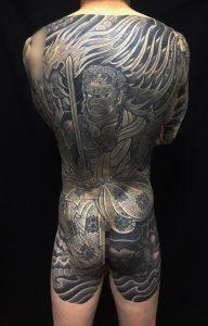 不動明王・迦楼羅炎の刺青、和彫り(Japanese Tattoo)の画像です。