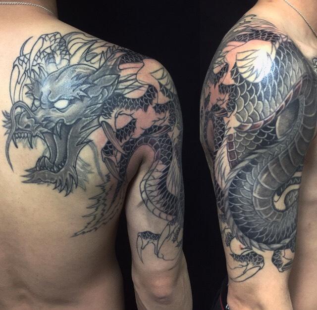龍(※リメイク・カバーアップ)の刺青、和彫り(Japanese Tattoo)の画像です。