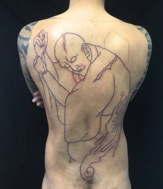 蔦紅葉宇都谷峠 文弥殺しの刺青、和彫り(Japanese Tattoo)です。