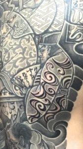 閻魔大王・地獄絵図の刺青、和彫り(Japanese Tattoo)の画像です。