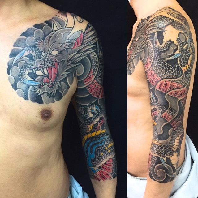 阿形の龍の刺青、和彫り(Japanese Tattoo)の画像です。