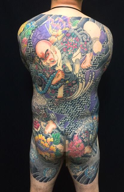 花和尚魯知深・牡丹の刺青、和彫り(Japanese Tattoo)の画像です。