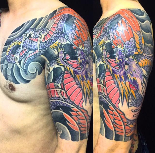 応龍の刺青、和彫り(Japanese Tattoo)の画像