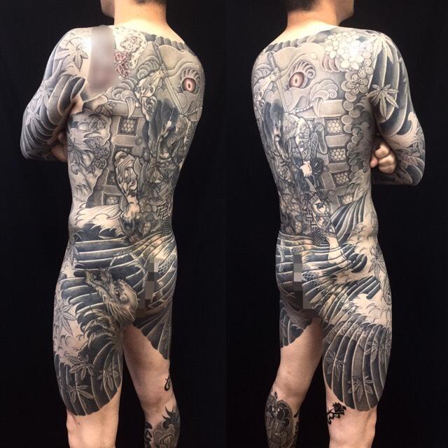 張順水門破り・龍の刺青、和彫り(Japanese Tattoo)の画像