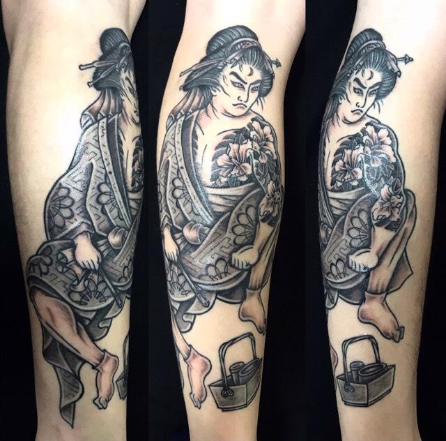 弁天小僧菊之助の刺青、和彫り(Japanese Tattoo)の画像