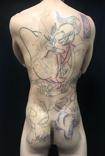 虎王丸の刺青、和彫り(Japanese Tattoo)の画像