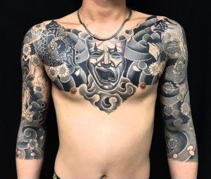 トゥーフェイス・十二支梵字の刺青、和彫り(Japanese Tattoo)の画像