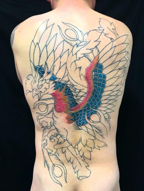 鳳凰の刺青、和彫り(Japanese Tattoo・タトゥー)の画像