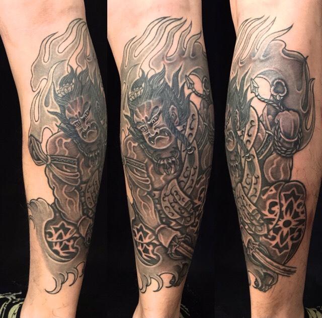 波切り不動明王の刺青、和彫り(Japanese Tattoo・タトゥー)の画像