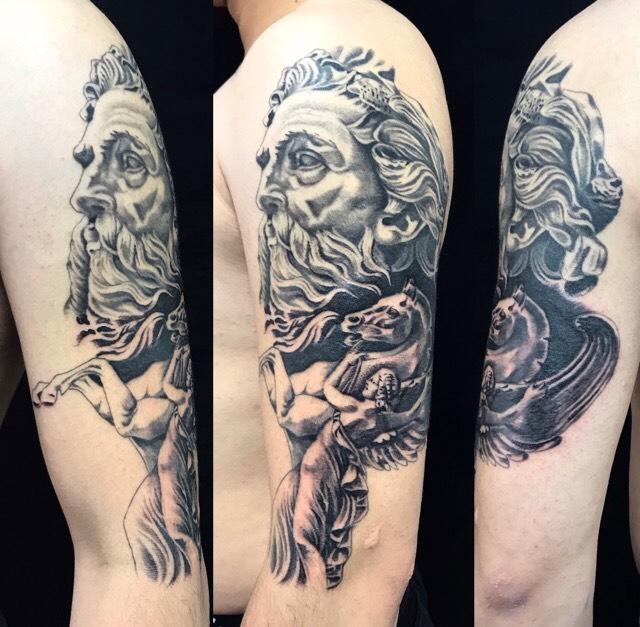 ゼウス・ペガサスのワンポイントTattoo(タトゥー)の画像