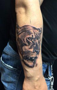 雌ライオンのワンポイントTattoo(タトゥー)の画像