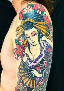 花魁・桜花の刺青、和彫り(Japanese Tattoo・タトゥー)の画像