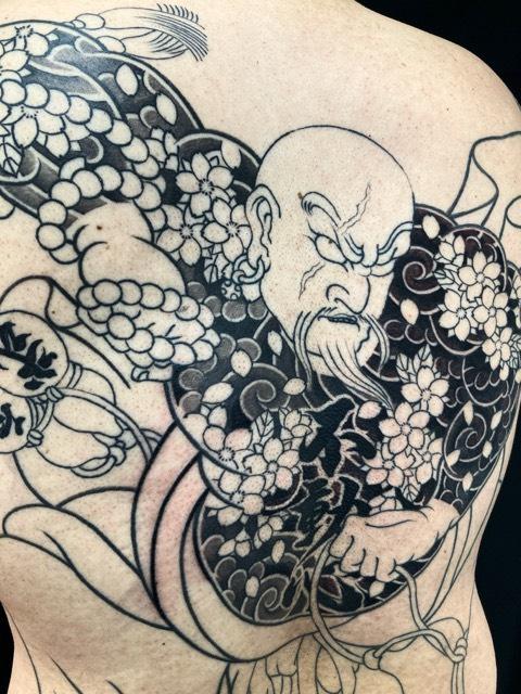 花和尚魯智深の刺青、和彫り(Japanese Tattoo・タトゥー)の画像